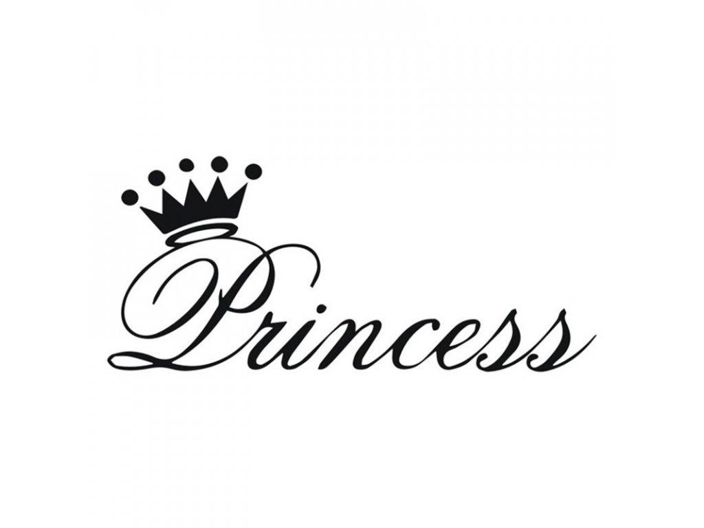 Samolepka na auto Princess nápis