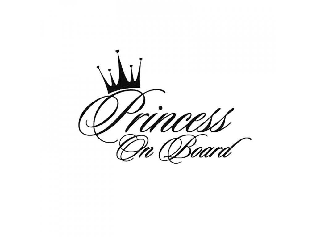 Samolepka na auto Princess On Board nápis