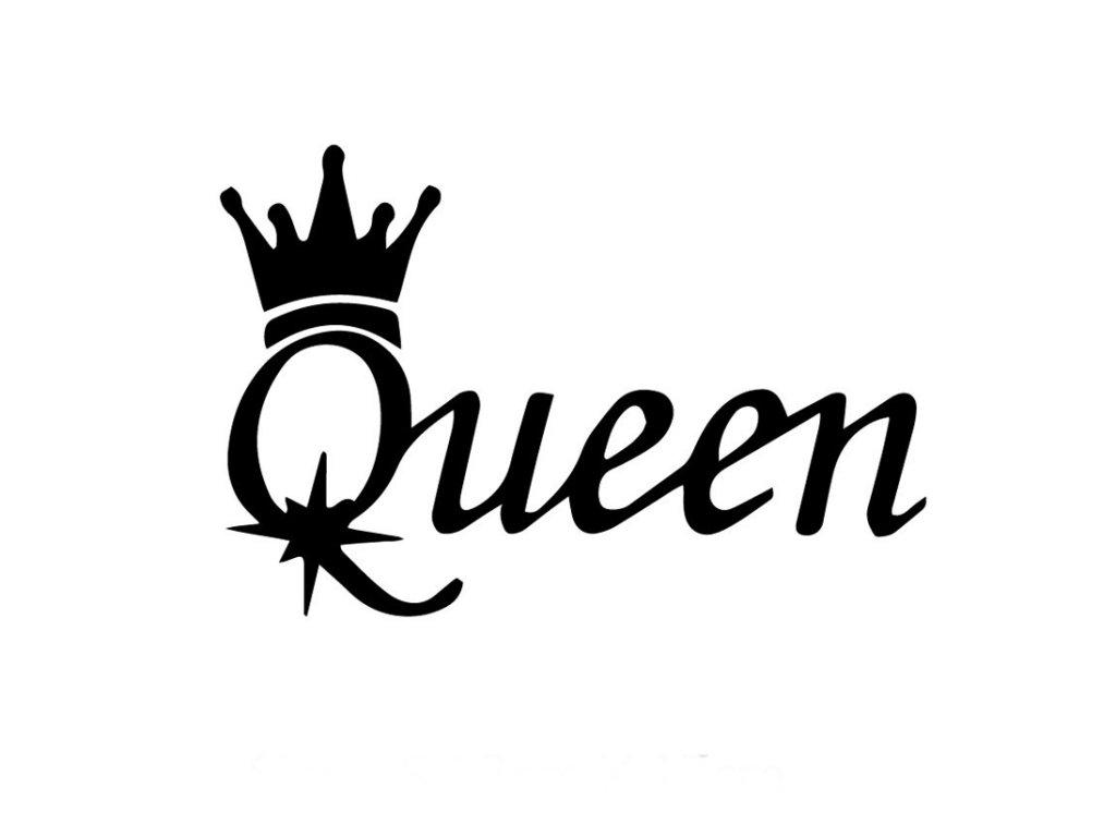 Samolepka na auto Queen nápis