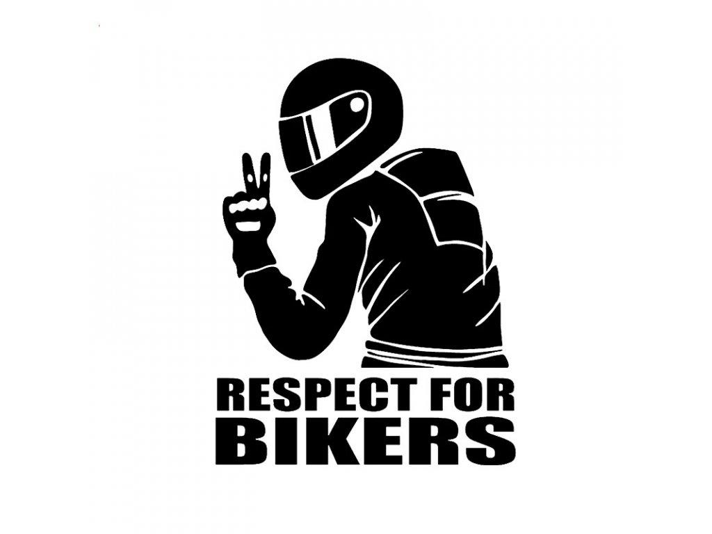 Samolepka na auto Respect For Bikers