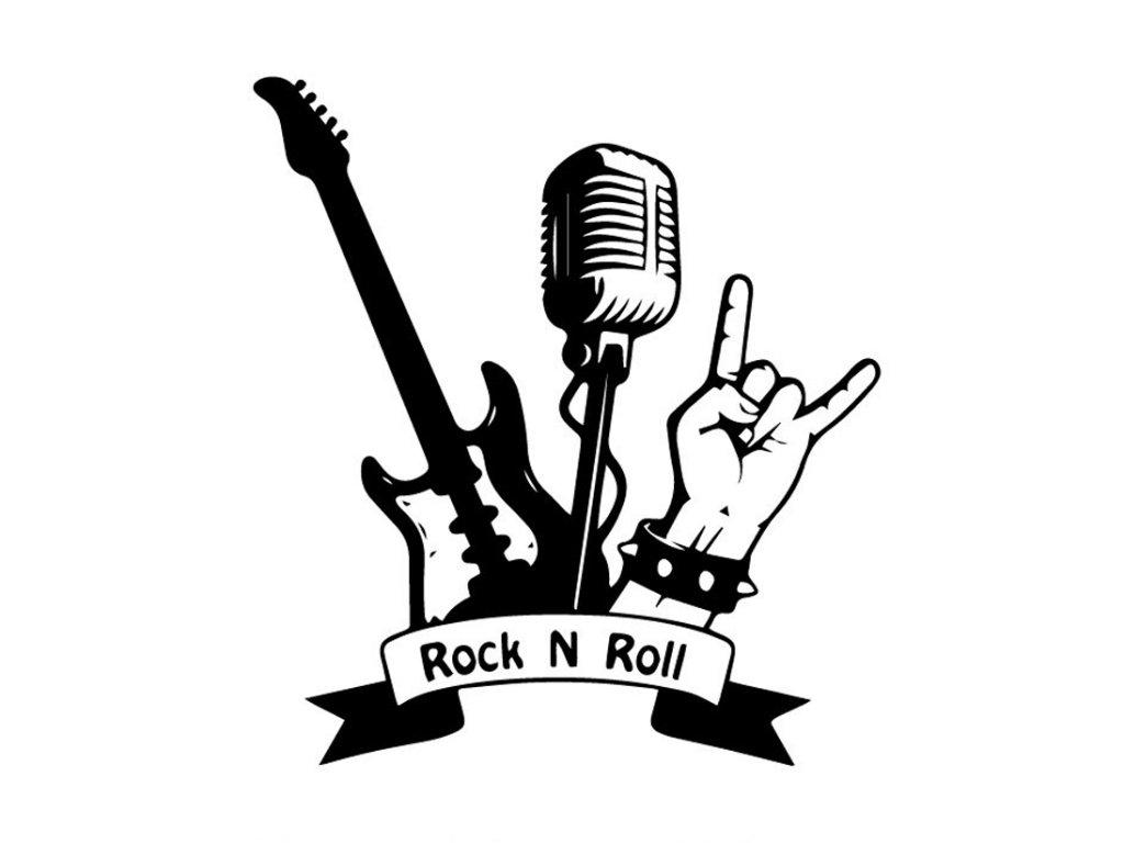 Samolepka na auto Rock n Roll symboly