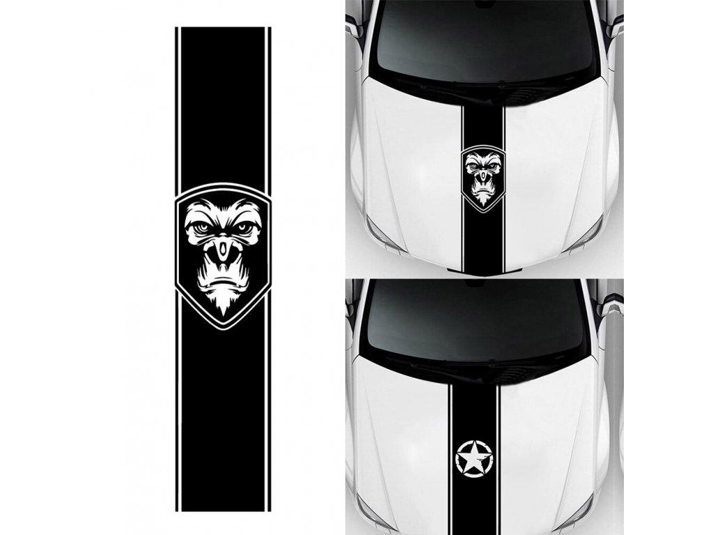 Samolepka na auto Rychlý pruh Gorila