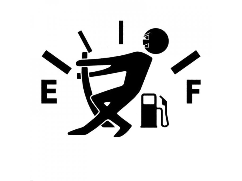 Samolepka na auto Vysoká spotřeba benzínu