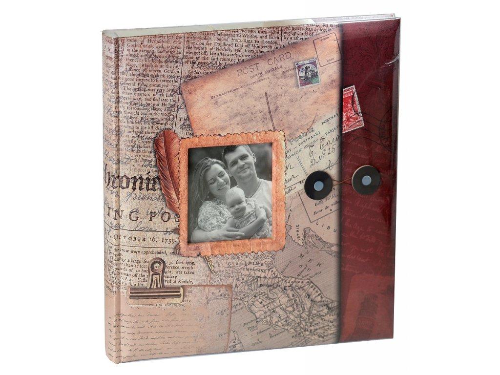 Fotoalbum na růžky 29x32cm 60 stran - DOVOLENÁ bordové