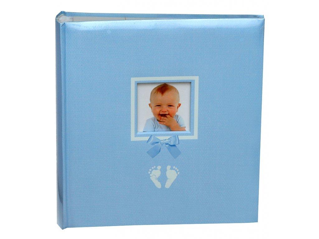 Fotoalbum na růžky 29x32cm 100 stran STOPY modré