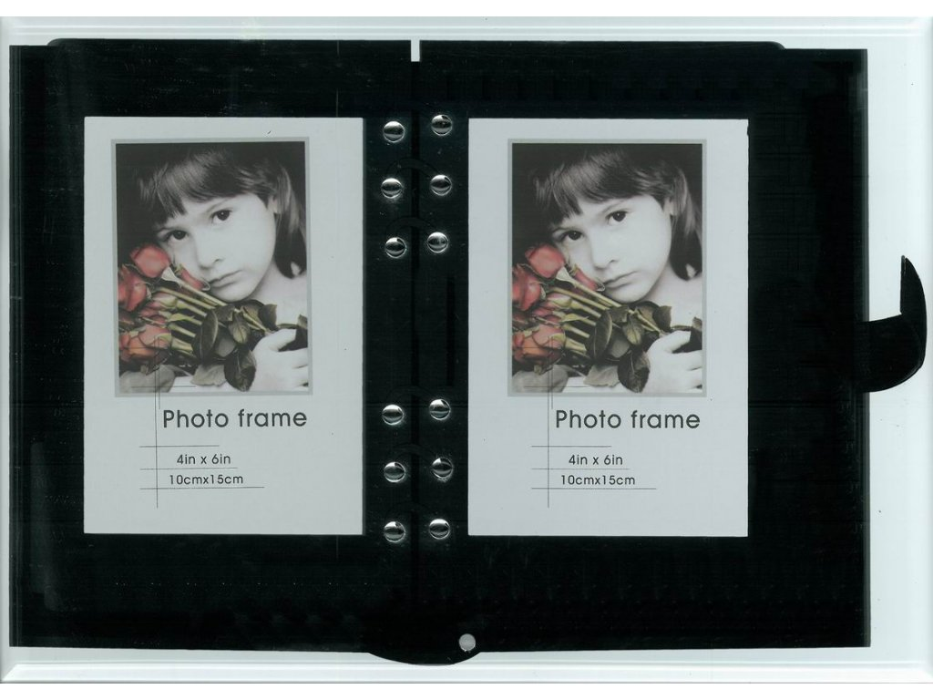 Fotorámeček galerie 2x 10x15cm, akrylová - Fandy
