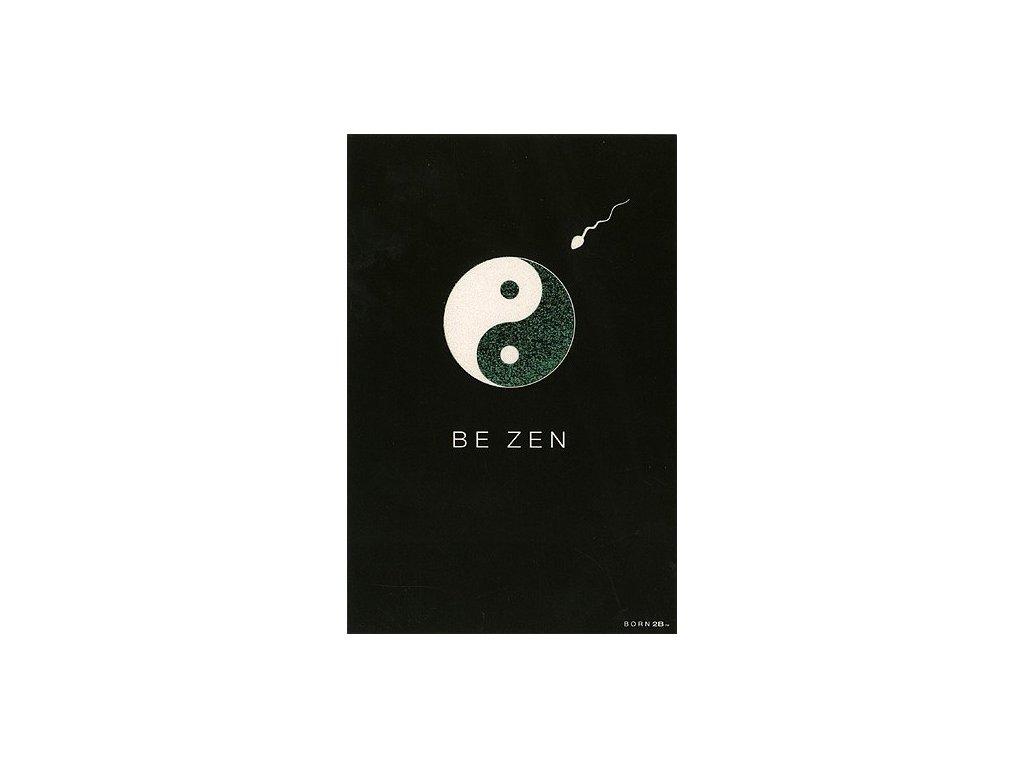 Vtipné blahopřání Born 2B - BE ZEN