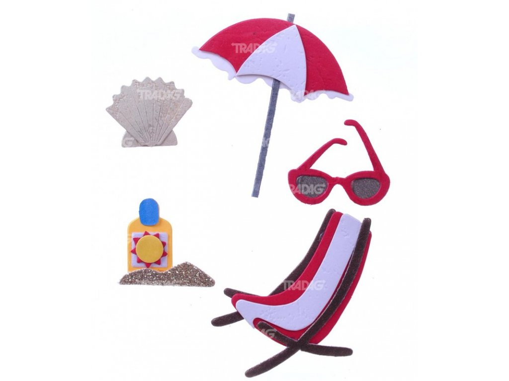 Nálepky do fotoalba na pláži