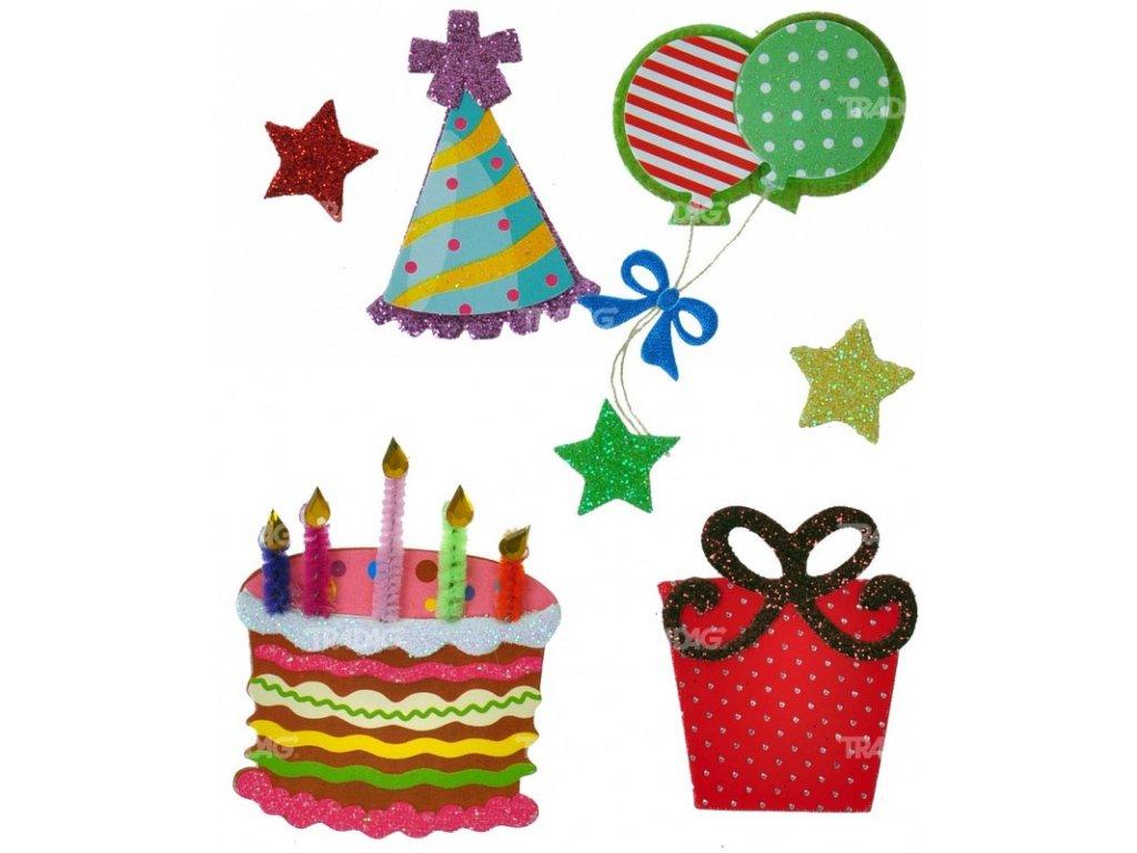 Nálepky do fotoalba narozeniny dort