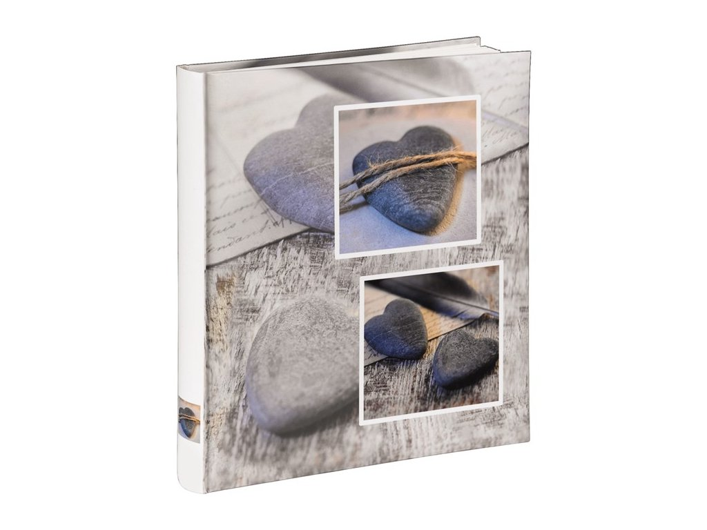 Fotoalbum na růžky 60 stran - Hama Catania šedé (srdce)