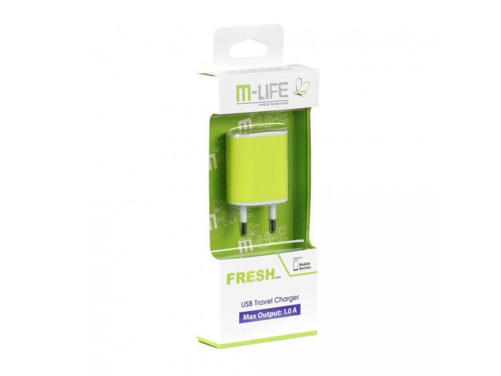 Nabíječka USB ML0592 zelená,  M-LIFE