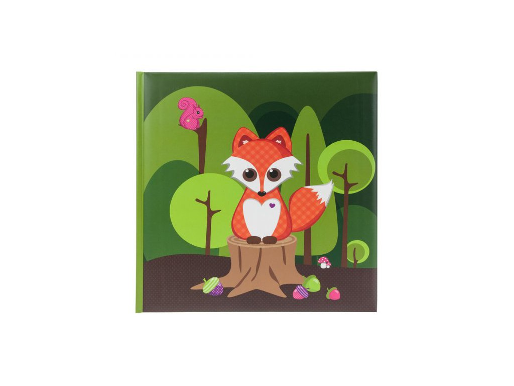 Dětské fotoalbum na růžky 60 stran liška