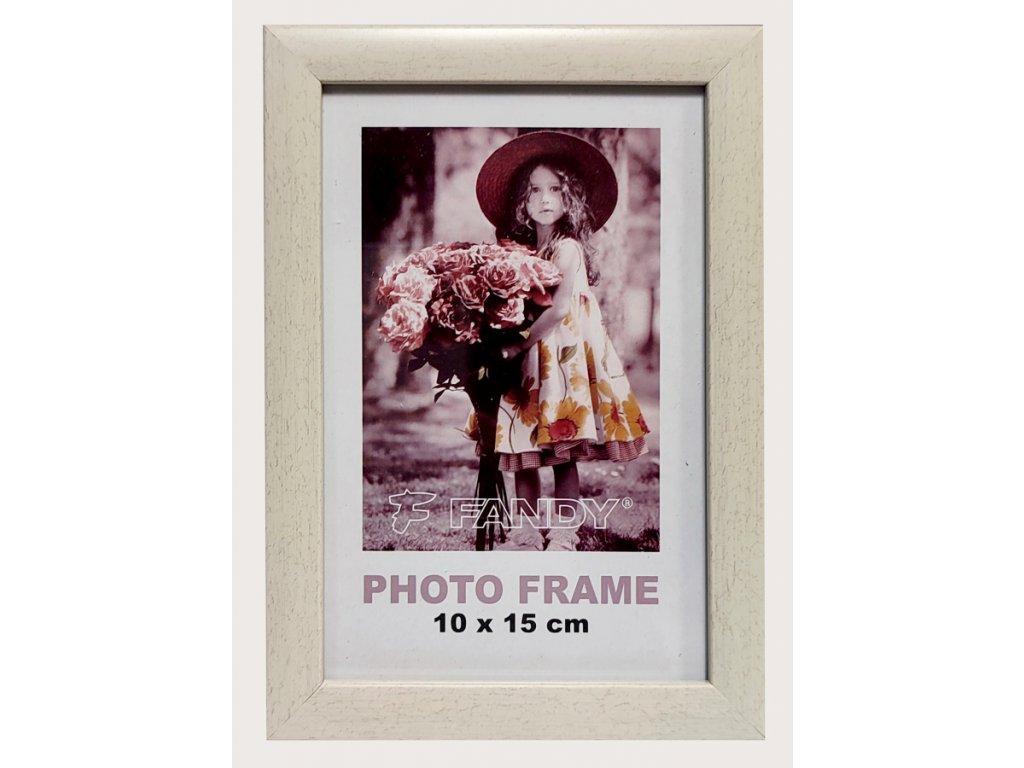 Fotorámeček 10x15 NOTTE 08 plast bílý