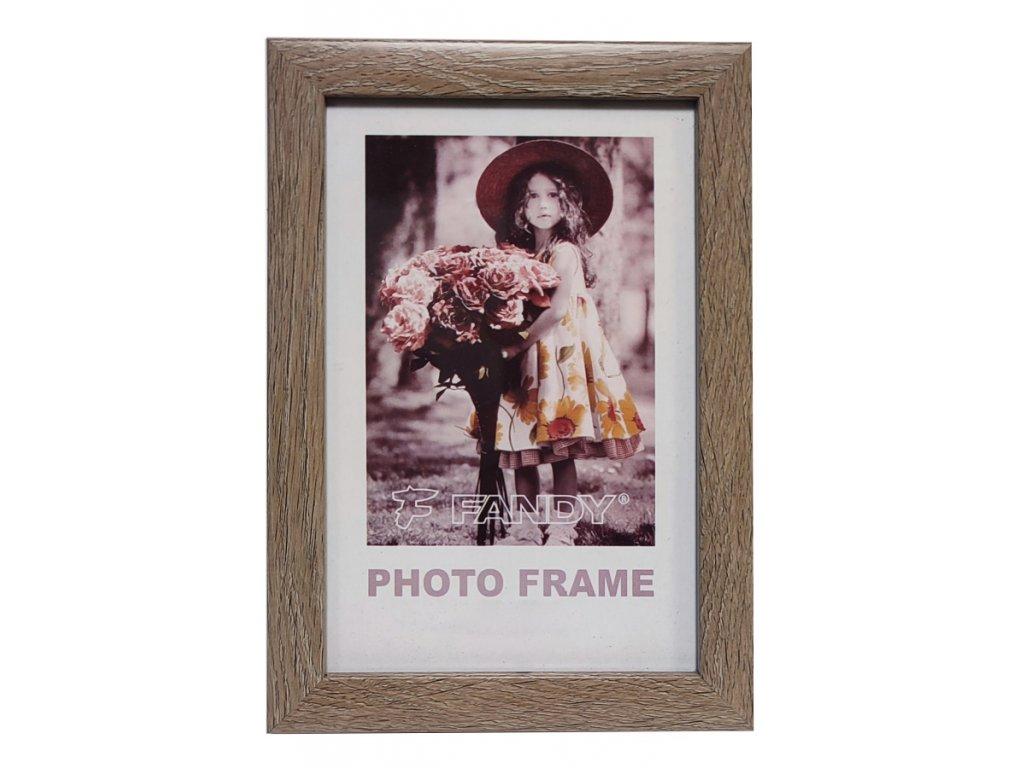 Fotorámeček 10x15 03 středně hnědý