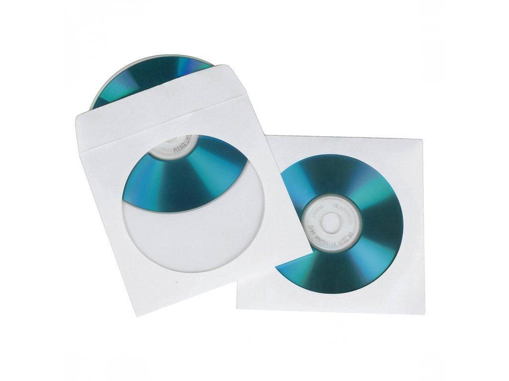 Obal pro CD/DVD, 1ks/bal, bílý