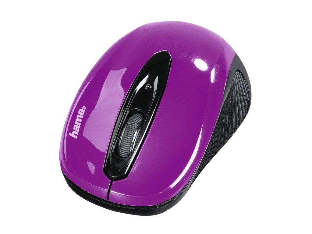 Myš optická  AM-7300, černá/ostružinová