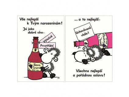Blahopřání Sheepworld k narozeninám dobré víno