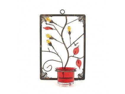Svícen Sunchi červený, listy