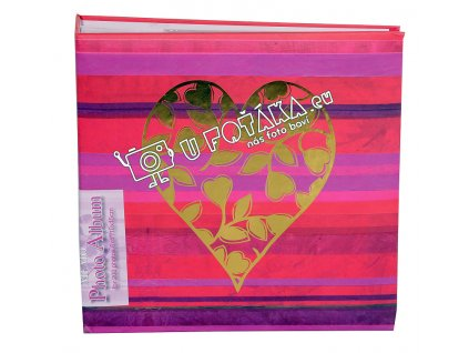 Fotoalbum 10x15/200 - valentýnské srdce červené ZLATÉ