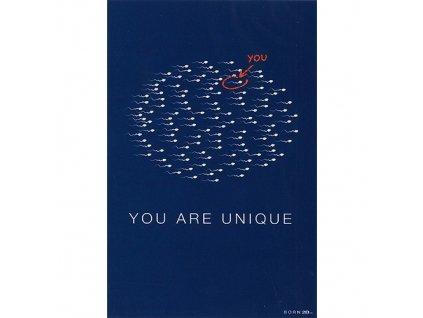 Vtipné blahopřání Born 2B - YOU ARE UNIQUE