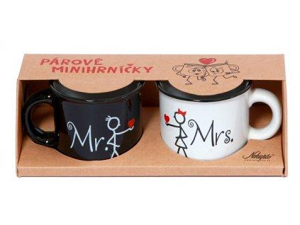 Mini hrnečky pro páry - Mr. / Mrs.