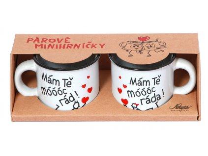 Mini hrnečky pro páry - Mám Tě móóóc rád / ráda!