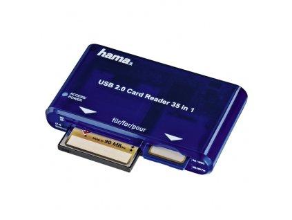 Hama čtečka paměťových karet MULTI modrá