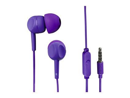 Sluchátka s mikrofonem EAR-3005 THOMSON fialová