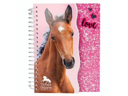 Zápisník Horses Dreams růžové