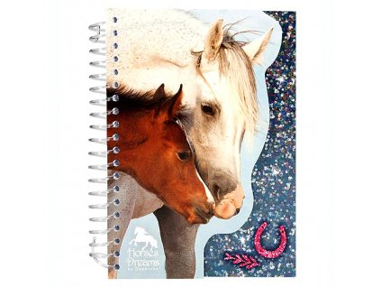 Zápisník Horses Dreams šedé
