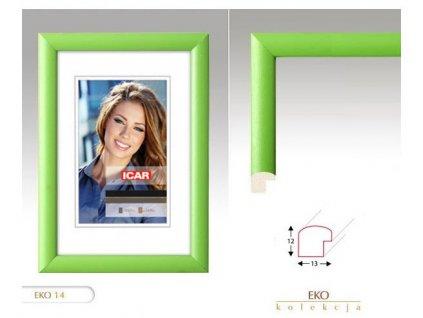 Fotorámeček dřevěný DRW H 13X18 - 14 zelený