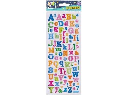 Nálepky do fotoalba abeceda květy
