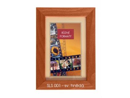 Fotorámeček dřevěný SLS 20x30 - 01 hnědý