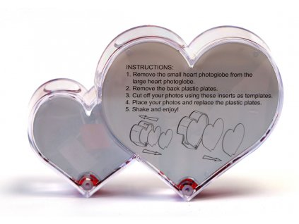 Fotodárek těžítko dvojité srdce