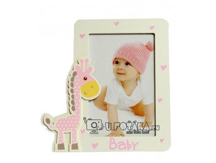 Fotorámeček dětský 10x15cm - žirafa růžová