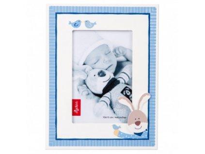 Fotorámeček dětský 10x15cm - zajíc modrý