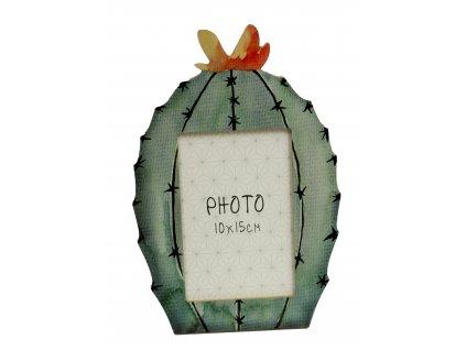 Fotorámeček dřevěný Kaktus