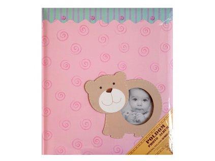 fotoalbum klasické růžové medvídek 1