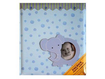fotoalbum klasické modré slon