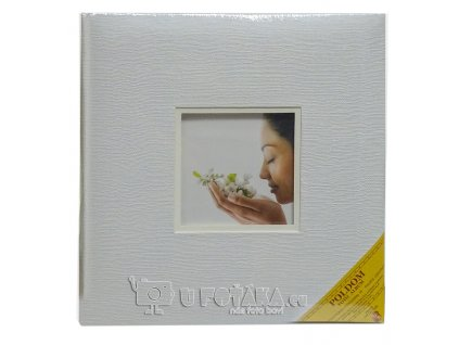 Svatební fotoalbum na růžky 60 stran - NATURAL okénko