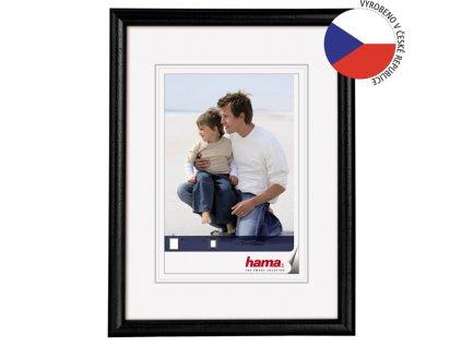 Fotorámeček 40x60 dřevěný HAMA OREGON černý