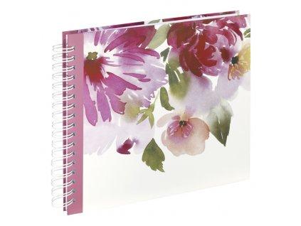 Scrapbook Fotoalbum na spirále pro tvořivou úpravu akvarelové květiny