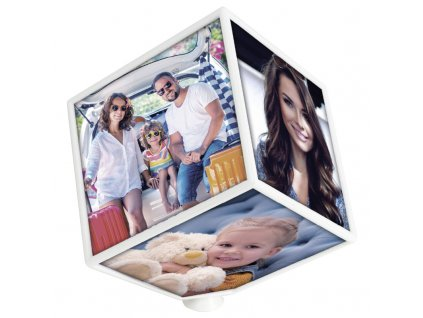 zep rotating photo cube 6x10x10 resin frame white crs10w