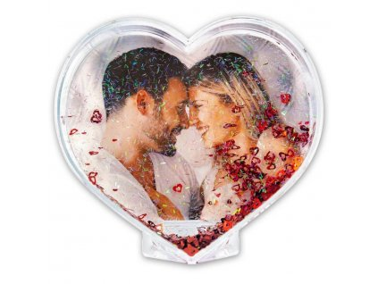 photo glitter heart 8x10 cm