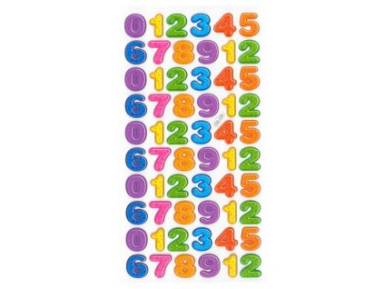 číslice barevná