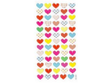srdce barevná