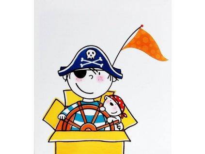 Dětské fotoalbum na růžky 50 stran - Pirát