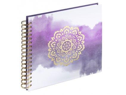 Scrapbook Fotoalbum na spirále pro tvořivou úpravu zlatý květ