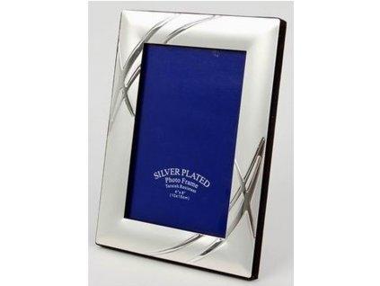 Fotorámeček 10x15 cm stříbrný - GLOSSY 46 2