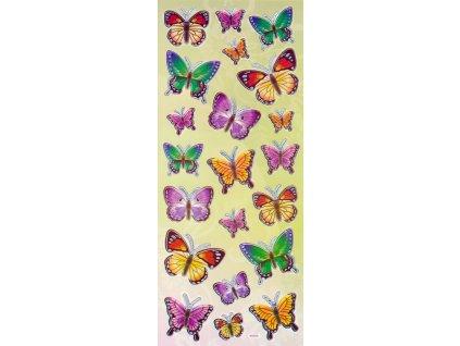 Nálepky do fotoalba Motýlci - mix barev